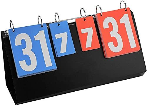 Portatile Tabellone segnapunti di pallacanestro, tabellone a 4 cifre 4 cifre Pallacanestro Punteggio da basket 4 cifre Scoreboard, per tavolo da tavolo Pallacanestro da basket Badminton Tennis Piccolo