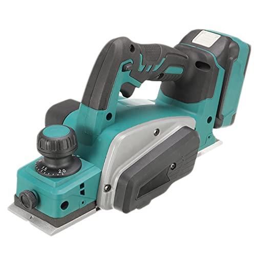 Cepillador eléctrico recargable 18V 15000RPM, herramienta de potencia de corte de traje de carpintería de cepillado portátil sin cable multifuncional