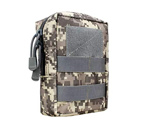 LINSUNG wasserdichte Multi-Tool-Reißverschlusstaschen langlebige Gürteltasche Außentaschen Camouflage