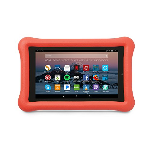 Amazon KidProof Case for Amazon Fire 7 Tablet 7th Generation 2017 Release Punch Red