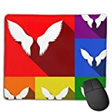 Gaming Mouse Pad Wings Sign Set Gaming Mouse Pad with Non-Slip Rubber Base, Durable Stitched Edges