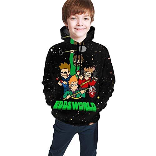 maichengxuan Children's Hoodies Edds-World 3D Print Pullover Hooded Sweatshirt for Girls/Boys/Kid's/Youth