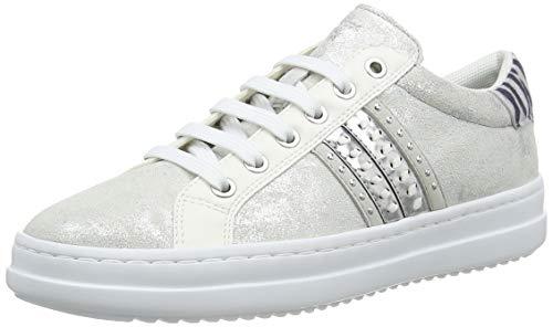 Geox D Pontoise D, Zapatillas Mujer, Plateado (Silver C1007), 38 EU