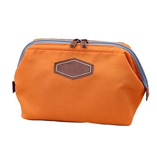 Multifuncional Portamonedas Portátil Caja Bolsa De Viaje Bolsa De Almacenamiento De Cosméticos Bolsa De Almacenamiento De Cosméticos Bolsa De Viaje Accesorios De Viaje Viaje Ligero (Color : Orange)