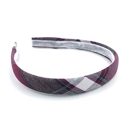School Uniform Thin Headband Plaid 54 for Girls