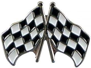 Distintivo spilla F1 bandiere a scacchi in metallo smaltato