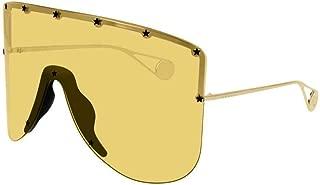 Gucci Unisex Sunglasses Rectangular GG0541S Gold/Yellow