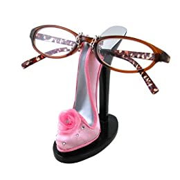 cute pink high heel shoe eyeglasses holder