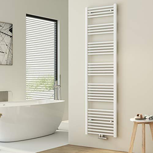 WELMAX Weiß Badheizkörper 50 x 180 cm Handtuchtrockner 1027 Watt Leistung Heizkörper Bad Mittelanschluss Handtuchheizkörper