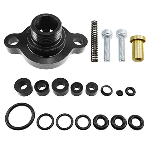 TIKSCIENCE Fuel Relief Pressure Spring Seal Kit,Fit for 1999-2003 Ford 7.3L Powerstroke Diesel,Including Fuel Line Grommets Drain Valve Orings Fuel Heater Orings Pressure Relief Valve Oring- Black