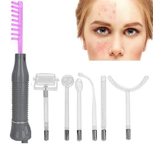 Varita de terapia de piel de electroterapia con ozono de alta frecuencia 7pcs/Set, rejuvenecimiento de la piel con nitrógeno púrpura claro, eliminación de arrugas de acné(EU)