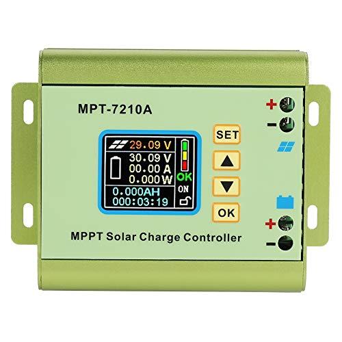 Akozon Regolatore di carica solare Display LCD Regolatore di carica pannello solare MPPT per batteria al litio
