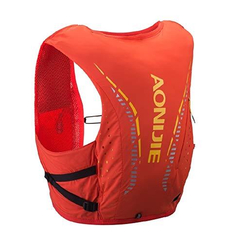 AONIJIE Mochila de hidratación, ligera, transpirable, 12 L, para exteriores, senderismo, correr, ciclismo, carreras, chaleco hidratante, color rojo, M/L