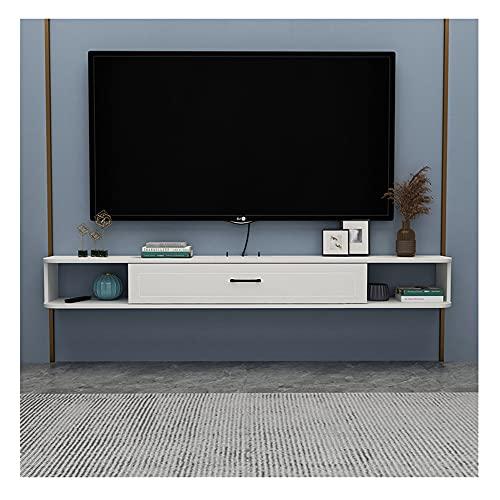 GEREP Mueble TV Colgante, Moderno Mueble de TV para Almacenamiento de DecoracióN de Dormitorio, Sala de Estar Y Oficina/A / W140×H20.4cm