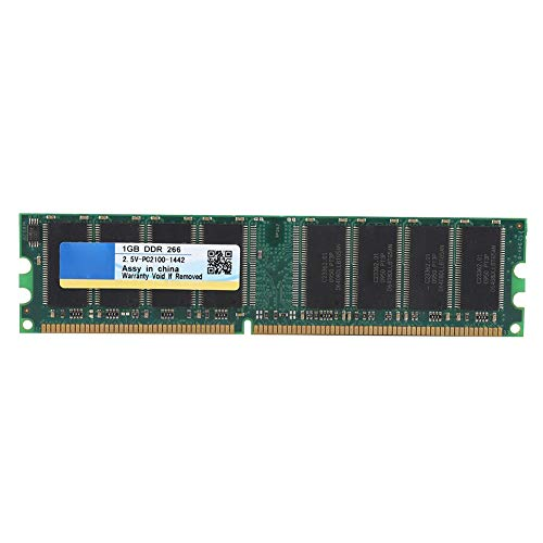 Bewinner DDR 266 RAM, 184Pin DDR 266MHz 1G Módulo de Memoria, Adecuado para PC de Escritorio DDR PC-2100, Compatible para Placa Base AMD, Chip Incorporado
