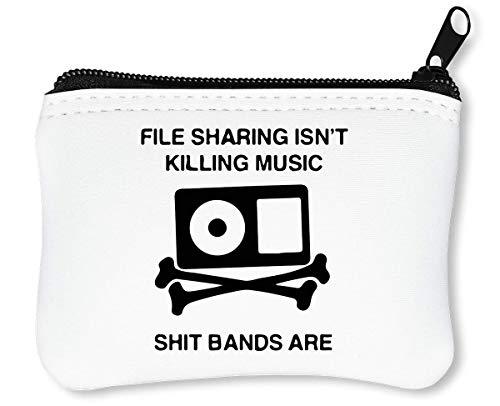 File Sharing Isn't Killing Music Reißverschluss-Geldbörse Brieftasche Geldbörse