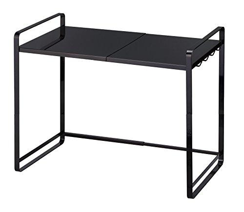 YAMAZAKI home Expandable Kitchen Counter Organizer, One Size, Black