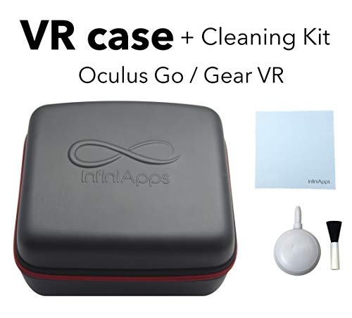New Oculus GO and Samsung Gear VR Life Case Semi-Hard Compact Travel Storage Carrying Case Cover Bag...