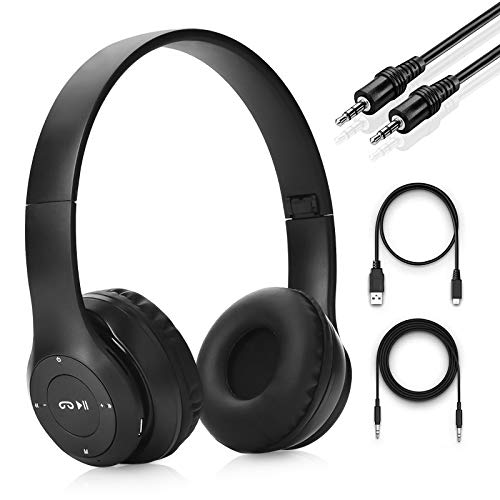 Audífonos Inalámbricos Bluetooth, Auriculares Bluetooth Diadema Plegables HiFi con Micrófono Incorporado y Control de Volumen,Auriculares con Cancelación de Ruido para iPhone/iPad/Android/PC/Huawei