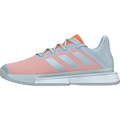 adidas Sole Match Bounce Clay - Zapatillas de Tenis para Mujer, Color Gris, Mujer, Zapatillas de Tenis, Gris Naranja, 41 1/3 EU