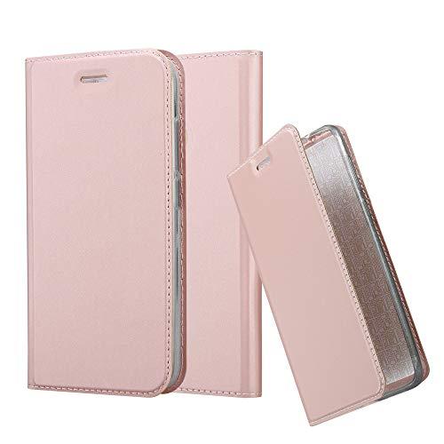 Cadorabo Funda Libro para Xiaomi Mi A1 / 5X en Classy Oro Rosa – Cubierta Proteccíon con Cierre Magnético, Tarjetero y Función de Suporte – Etui Case Cover Carcasa
