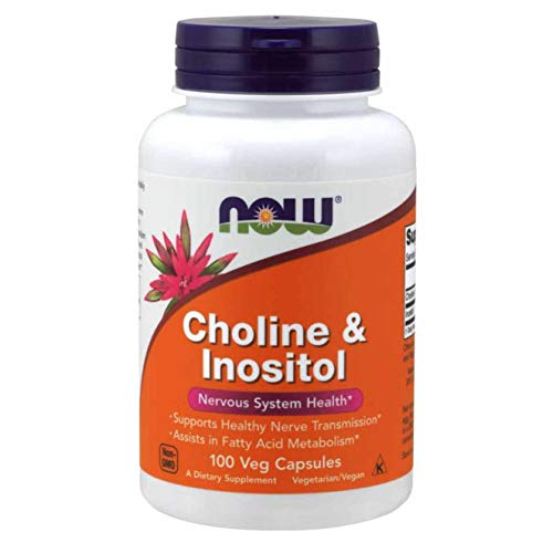 Now Foods 500mg Choline and Inositol Capsules - Pack of 100 Capsules