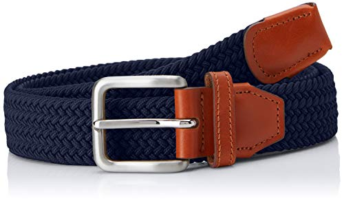 Jack & Jones NOS Herren Gürtel Jacspring Woven Belt Noos, Blau (Navy Blazer Navy Blazer), 105