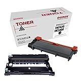 DOREE Cartucho de tóner compatible para Brother TN2420 / TN2410,TN-2420 / TN-2410, 1 TN2420 y 1 DR2400 neronegro, con chip