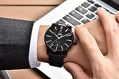 BENYAR Men's Watch Japan Quartz Movement-30M Waterproof Fashion Sports Chronograph Date Leather Men's Watch #3