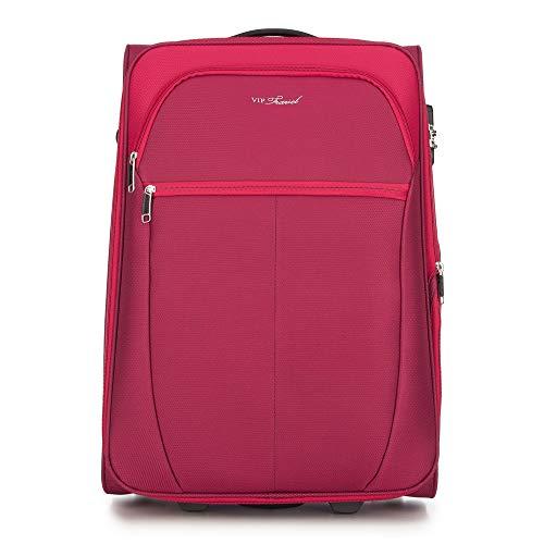 WITTCHEN Koffer – Großer | Textil, material: polyester | hochwertiger und stabiler | Rot | 108 L | 73x37x48 cm