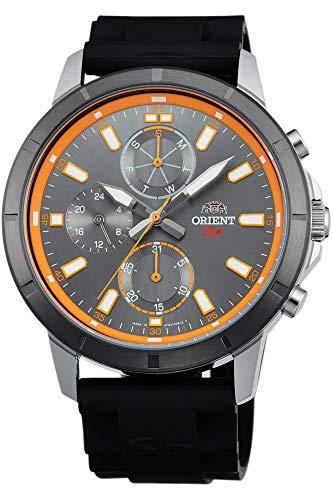 Orient Herren Analog Quarz Uhr mit Gummi Armband FUY03005A0