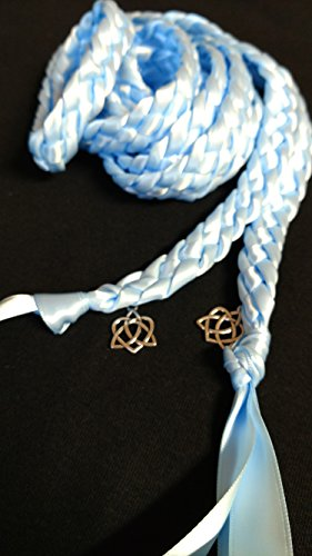 Light Blue Handfasting Cord Ceremony Braid- Celtic Heart Knot- 6 ft -Wedding- Braided Together- Handfasting cord