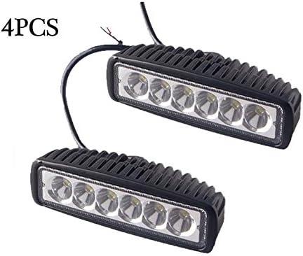 lowest Mallofusa LED Light Bar, 4x 18W lowest Flood Work Light Strip, Jeep Off-road Light Bar, Driving discount Fog Light IP67 Waterproof for Off-road Truck Car ATV SUV Jeep online