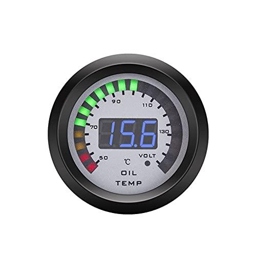 JCMYSH medidores para Coches 2'52mm Tacómetro Voltímetro Boost Bar/PSI Vacuum Air-Combuste RAGIO Temp Temp ACEAR Temp OILE Pulse EGT Calibre para Coche 12V Conjuntos de Calibre automotriz