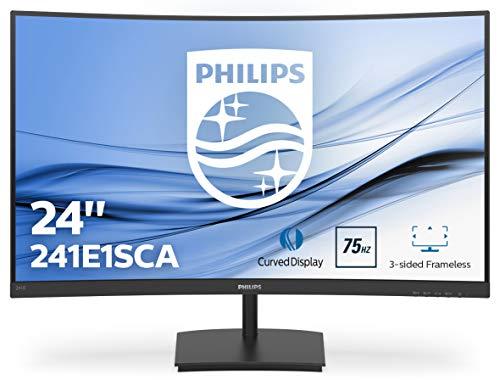 Philips 241E1SCA Curved Monitor 59 cm (23.6 inch) (VGA, HDMI, 4 ms reactietijd, 1920 x 1080, 75 Hz, FreeSync) zwart