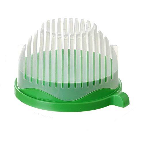 Color Zebra Salad Cutter Bowl, Cut Your Fruit & Vegetables in 60 Seconds, Multi-Functional Kitchen Helper- Salad Chopper Bowl (Green)
