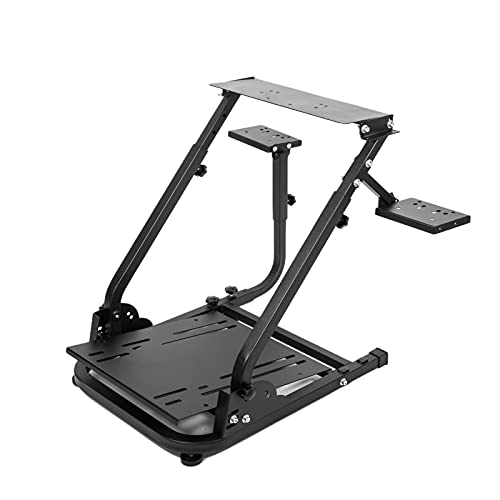 Wilk Racing Wheel Stand Pro Wheel Stand for Steering Wheel Stand Logitech G25 G27 G29 G920 Racing Wheel, Shifter and Pedals NOT Included (Classic Plus Double Shift Levers)