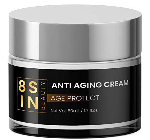 8 SIN - Anti-Aging Creme - Hyaluronsäure, Feuchtigkeitspflege für Gesicht und Augen, Gesichtscreme - Für Männer und Frauen
