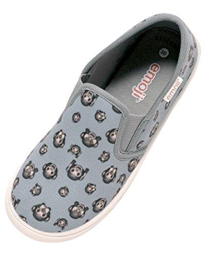 Zapato Kinder Sneaker Slipper Freizeitschuhe Unisex Mädchen Jungen mit Emoji AFFE Gr. 30 – 34 (33)