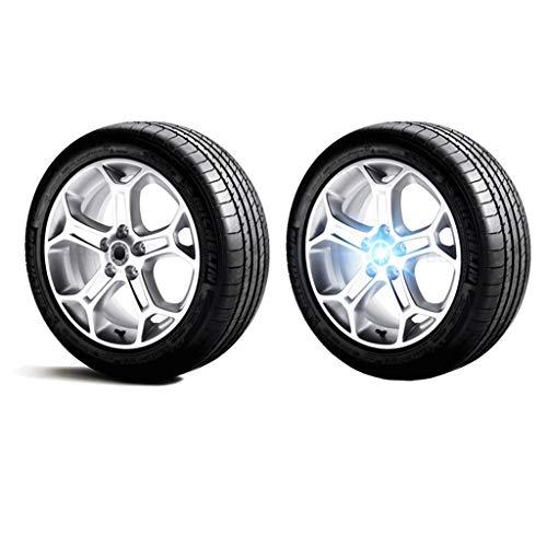 4 luces de ruedas de 134 mm, luces de ruedas, luces flotantes, luces LED, tapas de iluminación de cubierta media, adecuado para Audi