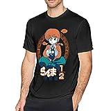 Tifus Dress Anime Ranma ½ Printed Graphic Short Sleeve Cotton T-Shirts for Men Teen Black
