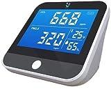 ZJ Durable CO2 Monitor - Rilevatore di allarme CO2 e monitor di qualità dell'aria indoor - Termometro e misuratore di umidità - Monitor di anidride carbonica Preciso
