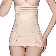 Defitshape Women's Postpartum Belly Wrap 3 in 1 Recovery Belly Wrap Waist/Pelvis Belt