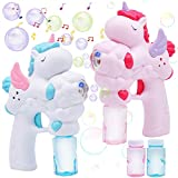 JOYIN 2 Unicorn Bubble Gun with 50 ML Bubble Solution Set for Kids Summer Toy, Party Favor, Bubble Summer Toy, Classroom Prizes