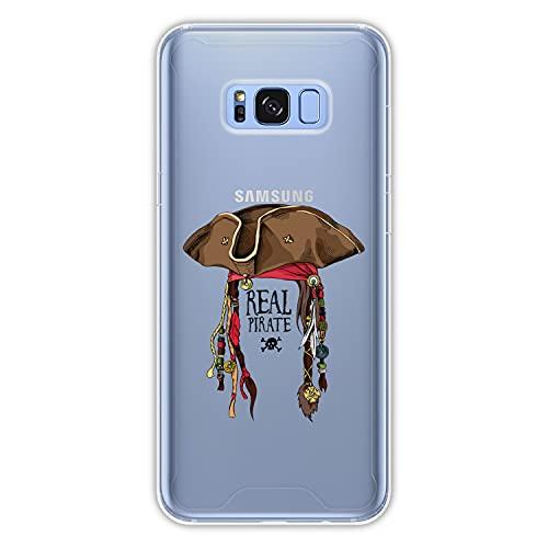 Hapdey Funda rígida para [ Samsung Galaxy S8 Plus - S8 Edge ] diseño [ El Pirata 1 ] Carcasa TPU, Transparente