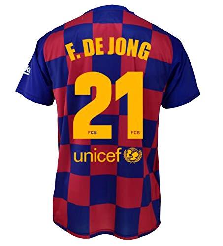 1e team shirt FC. Barcelona 2019-20 - Product met een licentie - Dorsal 21 DE JONG - Adult size S