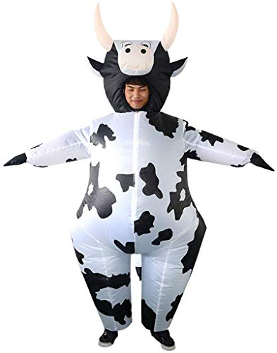 N\A ZT Disfraz de Vaca Inflable, Traje Inflable de Halloween Cosplay, Conjunto de Ropa Festiva de Fiesta, Evento de Fiesta de Carnaval Disfraces Divertidos