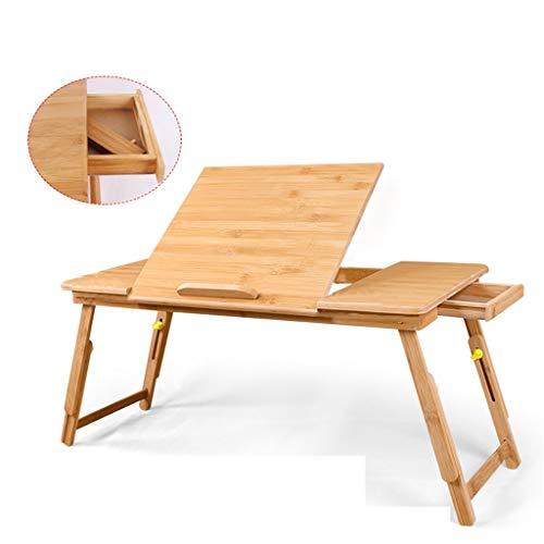 Pkfinrd Laptop tafel Massief hout Eenvoudige moderne stijl Bed bureau Huishoudelijke Opvouwbare tafel Vouwtafel, keuken en eettafel, kindertafel