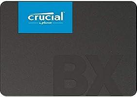 "Crucial CT480BX500SSD1 BX500 480GB 2.5"" SATA3 6Gb/s SSD- 3D NAND 540/500MB/s 7mm 1.5 mil MTBF 3yr wty Acronis True Image..."