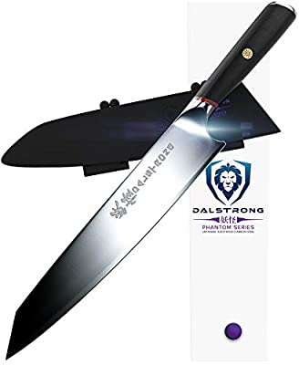 "DALSTRONG Chef Knife - Phantom Series Gyuto - Japanese AUS8 Steel - 9.5"" - Sheath"